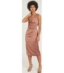 reiss adaline - satin cocktail dress in blush, womens, size 14