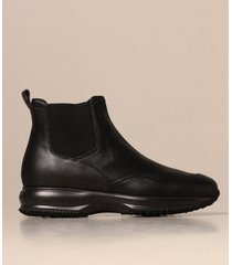 hogan flat booties interactive chelsea hogan boot in leather