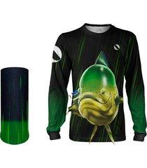 camisa + máscara pesca quisty dourado do mar fisgada forte block insect proteção uv dryfit infantil/adulto - camiseta de pesca quisty