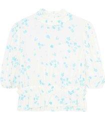 f5712 printed crepe blouse