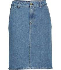 alicia denim skirt knälång kjol blå filippa k