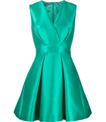 alberta ferretti flared mini dress - green