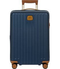 men's bric's capri 2.0 21-inch rolling carry-on - blue