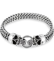 jackie titanium skull link bracelet