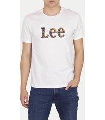 t-shirt korte mouw lee t-shirt camo package bright white