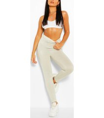 basic high waist ankle grazer legging, ice