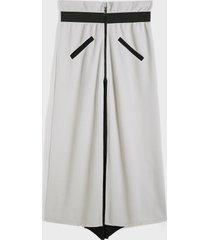 falda suelta con cintura elástica y cremallera frontal estilo artes marciales vendimia para hombre