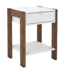 mesa de cabeceira, cômoda, tecno mobili, az101 branca/marrom