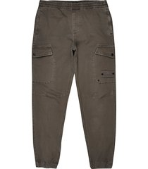 river island mens brown washed cargo pants