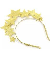 tiara le estrelas dourado