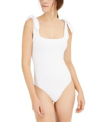 kit & sky tie-shoulder square-neck bodysuit