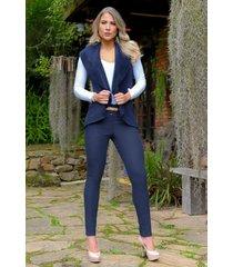 pantalón nieve outfit 1085 para mujer azul