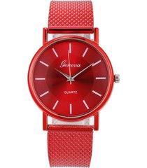 reloj pulsera mujer cuarzo pulso pu aa10 rojo f