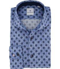 overhemd blue industry blauw dessin