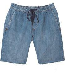bermuda john john straight atalaia jeans azul masculina (jeans escuro, 50)