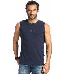 camiseta vlcs regata gola redonda azul