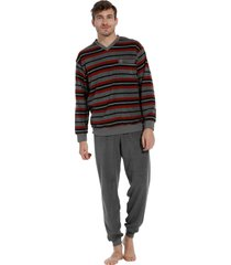 heren pyjama robson badstof 27202-711-2 grijs-s/48