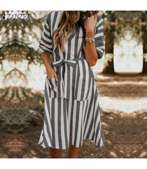 zanzea vestido de camiseta de playa de verano de manga corta para mujer túnica mini vestido de vacaciones -negro