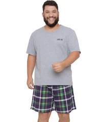 pijama masculino plus size super pai luna cuore