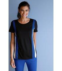 shirt amy vermont zwart::wit::royal blue