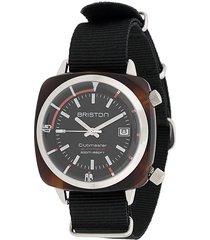 briston watches clubmaster diver watch - black