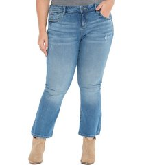 slink jeans crop flare jeans, size 16w in patti at nordstrom