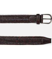 anderson's men's matt buckle woven belt - dark brown - w36/xl