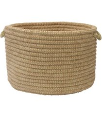 colonial mills softex check braided storage basket