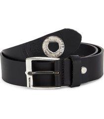 diesel men's embossed leather belt - black - size 85 (34)