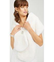 adrianna papell plus size faux-fur stole