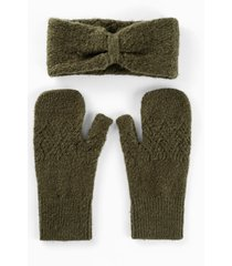 fascia e muffole (set 2 pezzi) (verde) - bpc bonprix collection