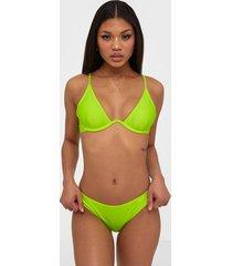 south beach neon yellow mono bikini bottom trosa