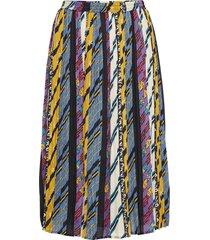 kenzie skirt knälång kjol multi/mönstrad minus