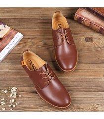 hombre zapatos oxford de vestir de cuero zapatos planos con cordones