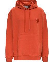 nanushka organic cotton hoodie with logo embroidery