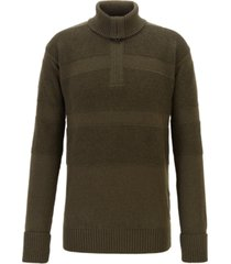 boss men's bastiani zip-neck troyer sweater