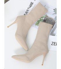 tejido puntiagudo botas