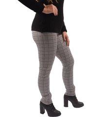 calça benne legging montaria xadrez preto e branco