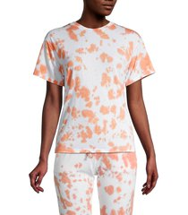 theo & spence women's tie-dye t-shirt - peach - size s