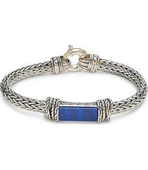 effy men's sterling silver & lapis lazuli bracelet