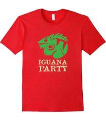 iguana party t-shirt funny iguana lizard shirt men