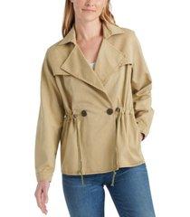 lucky brand drawstring trench coat