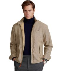 polo ralph lauren men's plaid linen-blend twill jacket