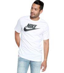 camiseta blanco nike nstee hbr icon futura