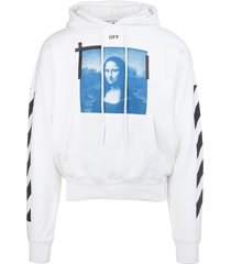 off-white man white monalisa hoodie