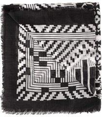 patchwork print scarf