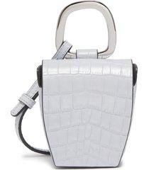 'pablo' croc embossed leather crossbody bag