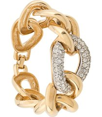 givenchy pre-owned statement chain bracelet - gold