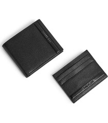 ted baker london streety leather wallet & card case set in black at nordstrom