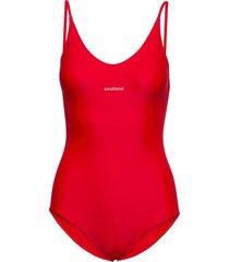 adel swimsuit baddräkt badkläder röd soulland